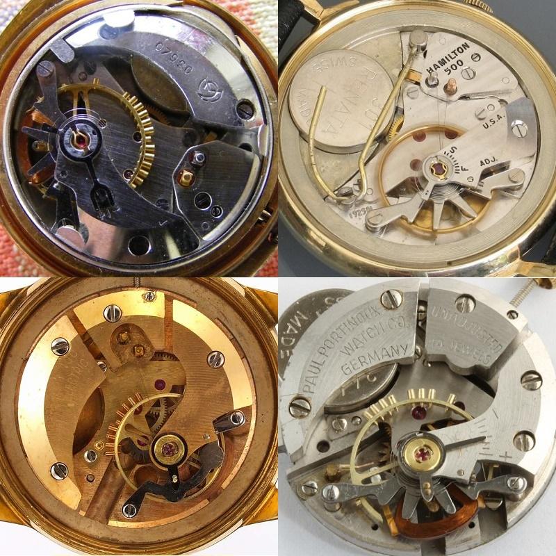 Comparison of Hamilton 500, Epperlein 100 Proto, Epperlein 100 and Slava 114ChN