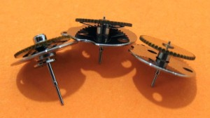 ESA 9210 Chronograph Counters. Main centre second chronograph counter on the left