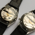 Pair of white dialled Hamilton Clearviews. Fine regulator on left watch is not correct, Cal. 505, 1965