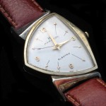 Hamilton Pacer 1958. The dial on this example has been badly refinished and has a mixture of 500 and 505. (Cal. 500)