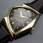 Hamilton Pacer; 1958. Rarer dial type with crosshairs from 10 to 4 and from 2 to 8 (Cal. 500)