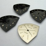 Hamilton Pacer dials just back from the refinishers.