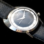 Hamilton Saturn; Black Dial; White 14K Gold Filled; Screw Down Back; 34mm diameter; Cal. 505; 1963ish
