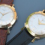 Two Hamilton Van Horns; Calibre 500; 14K Gold Case; 1957.