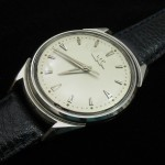 LIP Electronic; Cal. R27; All Stainless Steel; Opens Through Crystal; 38mm diameter; 1958