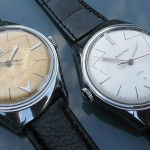 'ELECTRIC' Accumulator watch alongside the 'SWISSELECTRIC' Accumulator watch. The latter has the 4750 movement.