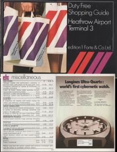 Longines Advert in Heathrow Terminal 3 Catalogue