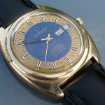 Omega f300 Constellation Gold Blue Dial (198.0034)