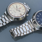 Omega f300 Seamaster Cone (198.012) Pair of Unrestored Crown-at-2 Examples