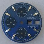 Omega f300 Speedsonic Dial 188.0002 Blue Raised Batons
