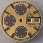 Omega f300 Speedsonic Dial 188.0002 Gold Raised Batons