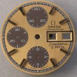 Omega f300 Speedsonic Dial 188.0002 Gold Raised Batons