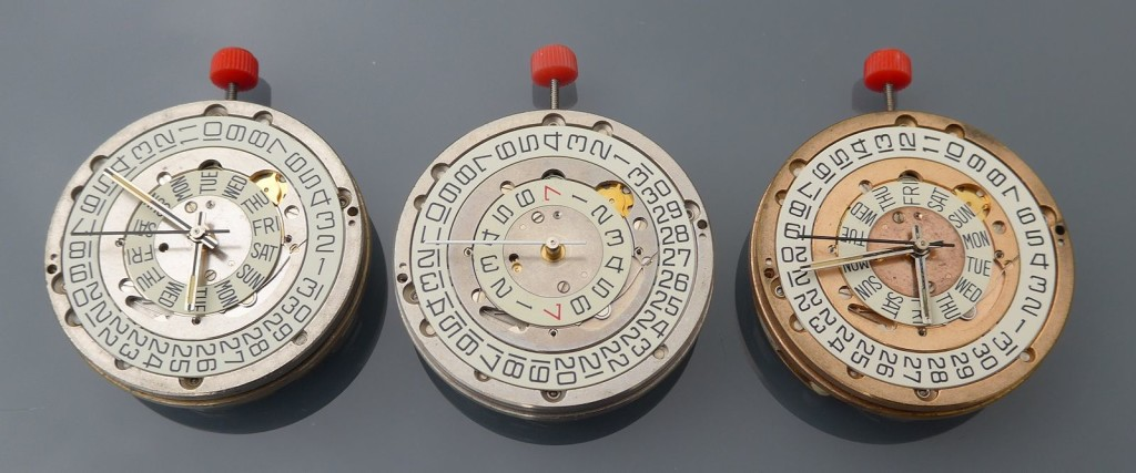 Two ESA 9210 and one Omega 1255 Movements