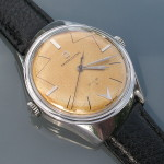 Swisselectric watch with its asymmetric case. The case is the same as my Midland example.