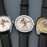 Three Mickey Mouse: Helbros (PUW 2001) Timex (M40) Accutron (2182)