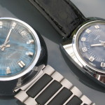 Timex Electronic Model 65 Time Zone (right). 1974 (7975006574) alongside a Model 87 based watch (left).