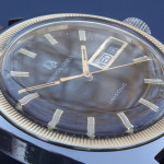 Universal Geneve Unisonic; Stainless Steel Case with solid Gold bezel