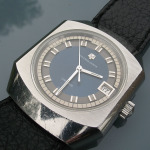 Universal Geneve Unisonic Steel Blue Dial Cal 1-52