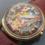 Waltham Spaceview; Gold plated case with display back, LIP R148, 1965ish