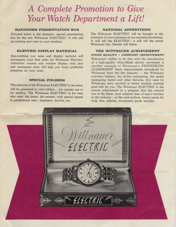 Wittnauer Electric Watch Brochure