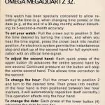 Setting Omega Megaquartz 32